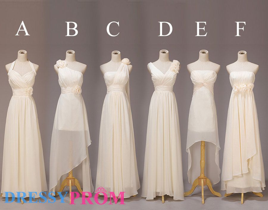 Hot Sale Six Style Modest Bridesmaid by DressyProm on Etsy, $109.99 ...