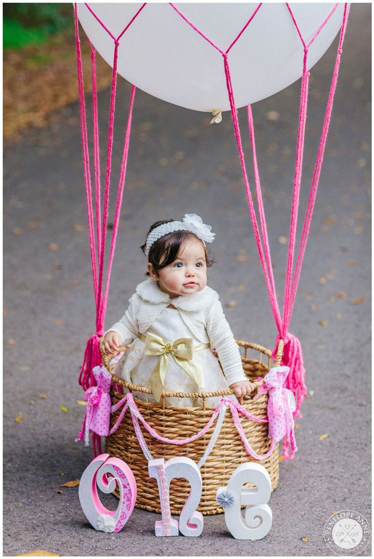 Hot Air Balloon Shoot First Birthday 1 Year Old DIY