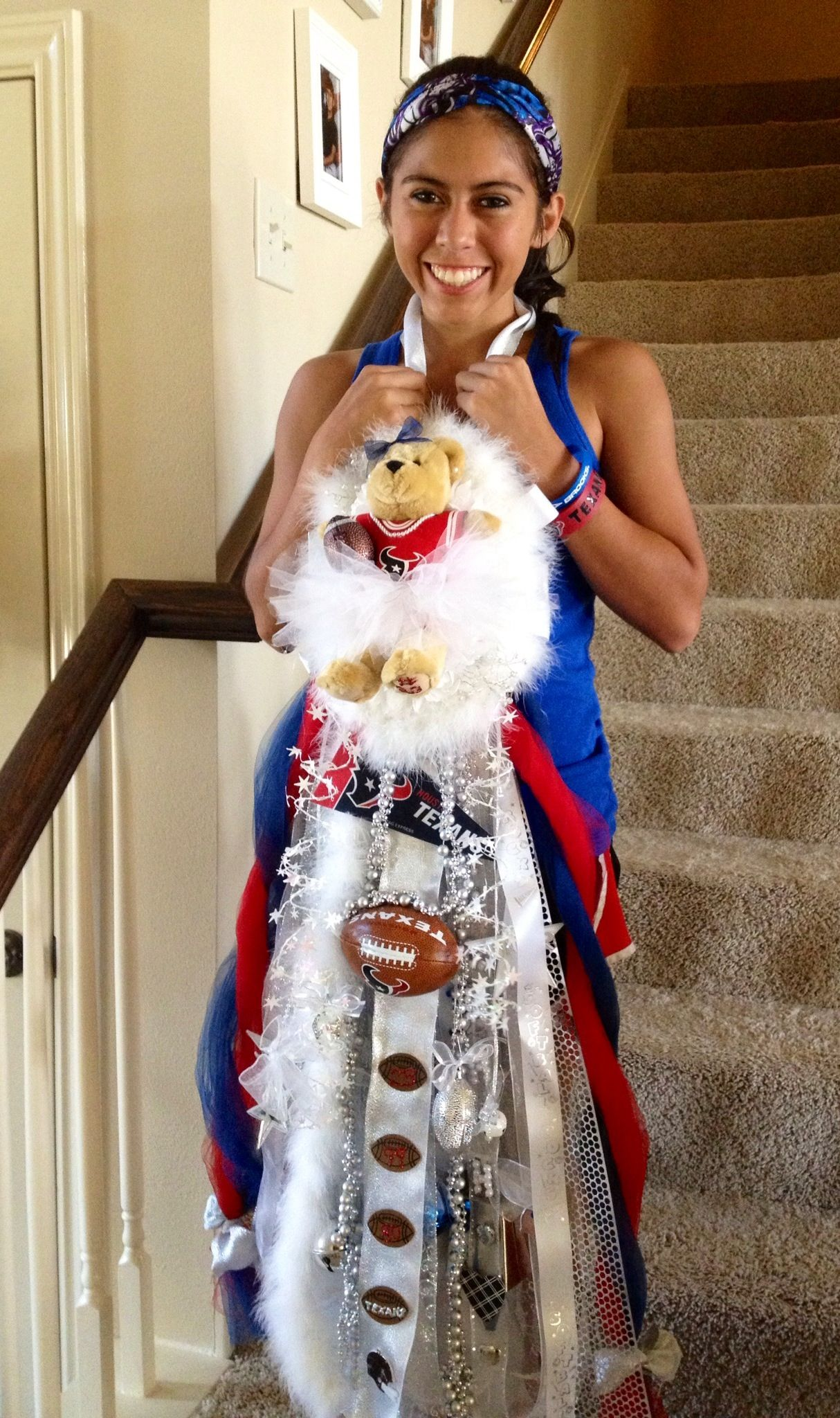 My Daughters Homecoming Mum We Love Our Texans Homecoming