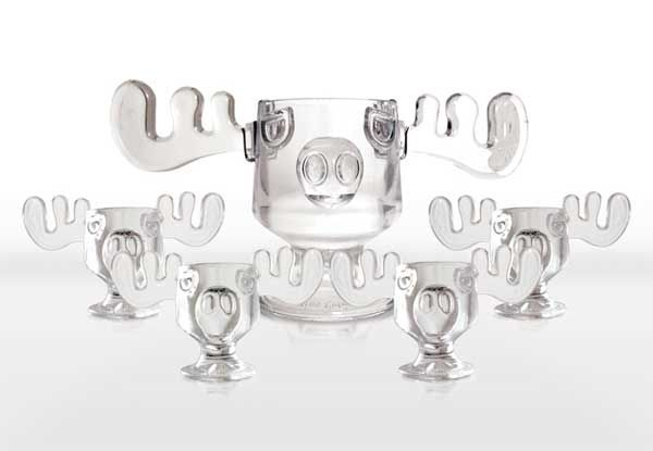 christmas vacation moose punch bowl and moose mug set i absolutely love the punch bowl i would probably just use one for a glass - Moose Glasses From Christmas Vacation