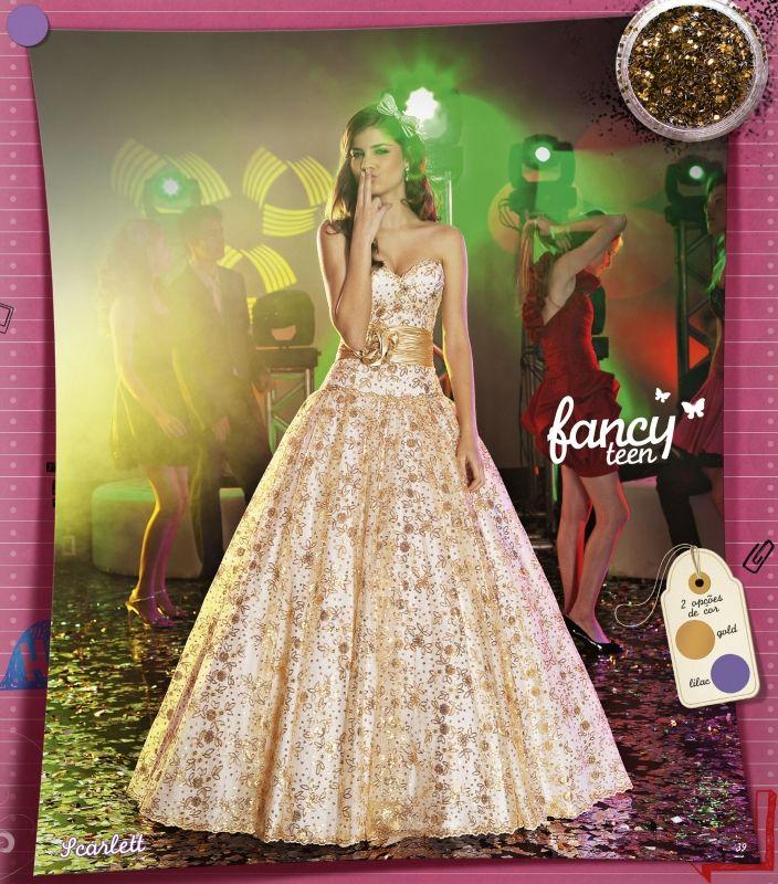 28ac14a33 Vestido Debutante - Center Noivas e Debutantes - Coleção Fancy Teen ...