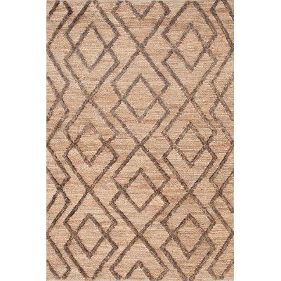 "Bunny Williams Marco Oak Cut-pile Brown Area Rug Rug Size: Runner 2'6"" x 8'"