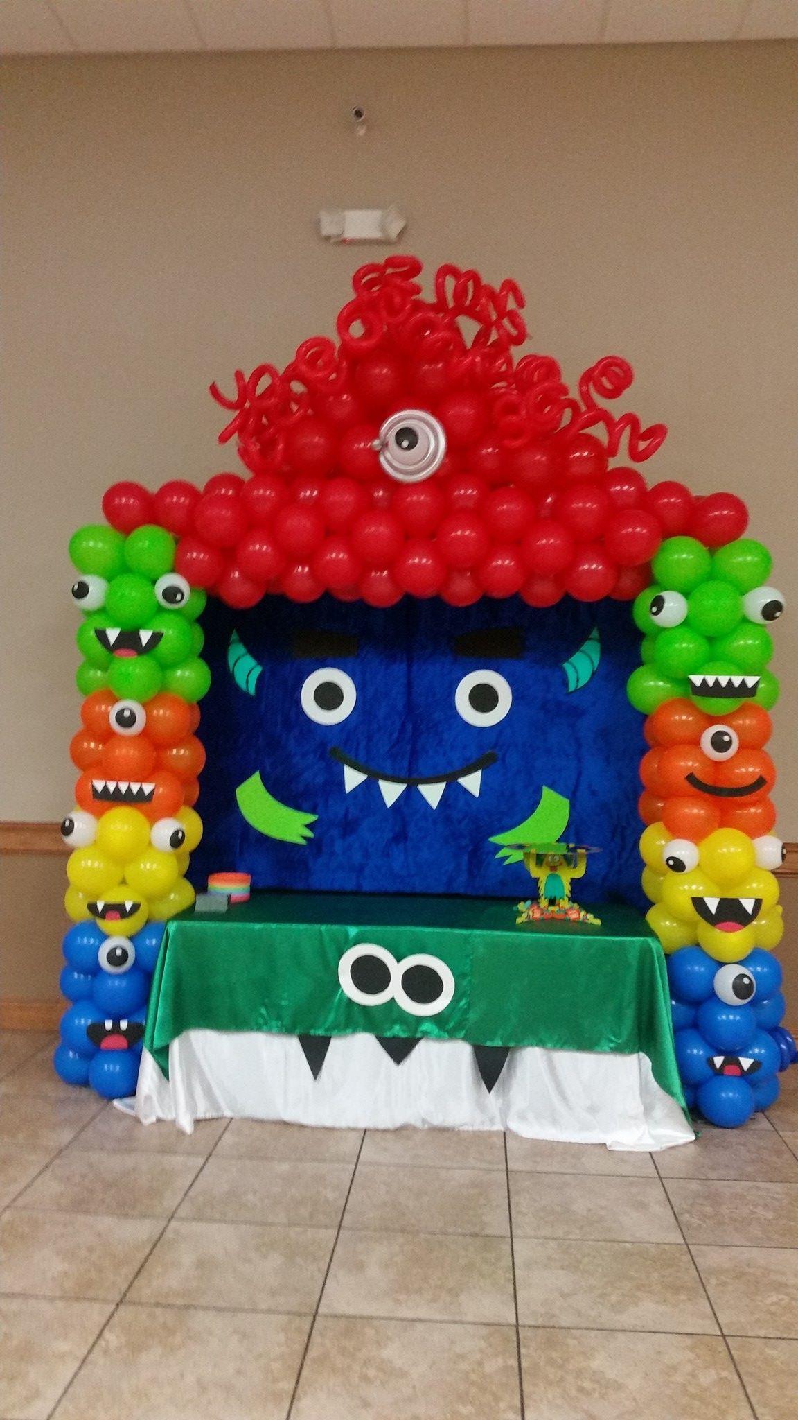Monsters Balloon Arch Monster 1st Birthdays Monster Birthday Parties Little Monster Birthday