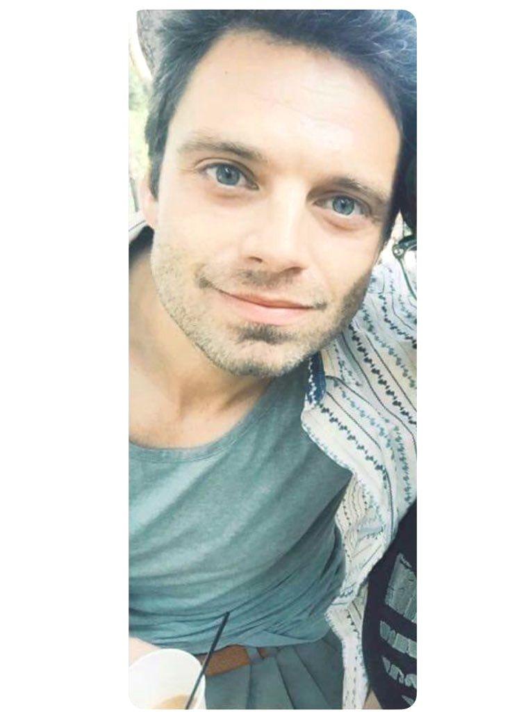 Sebastian Is Living His Greek Life Drinking Frape And Being Dressed Like A Greek On A Greek Island Greek Is Sebastian Stan Winter Soldier Bucky Winter Soldier