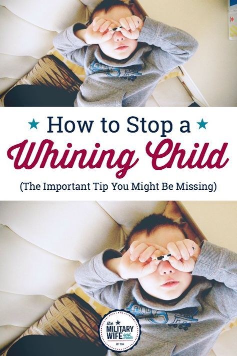Tired of the whining? This is such a great post for how to stop a whining child! #stopwhining #whiningchild #howtostopwhining #stopcomplainingchild #positiveparenting #respectfulparenting #parentingtricks