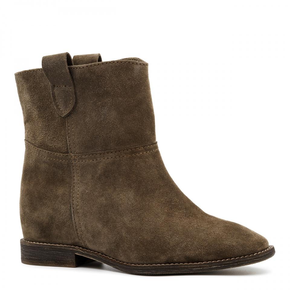 Welurowe Botki Koloru Mocca Z Ukrytym Koturnem 27b Nescior Sklep Firmowy Ankle Boot Shoes Boots