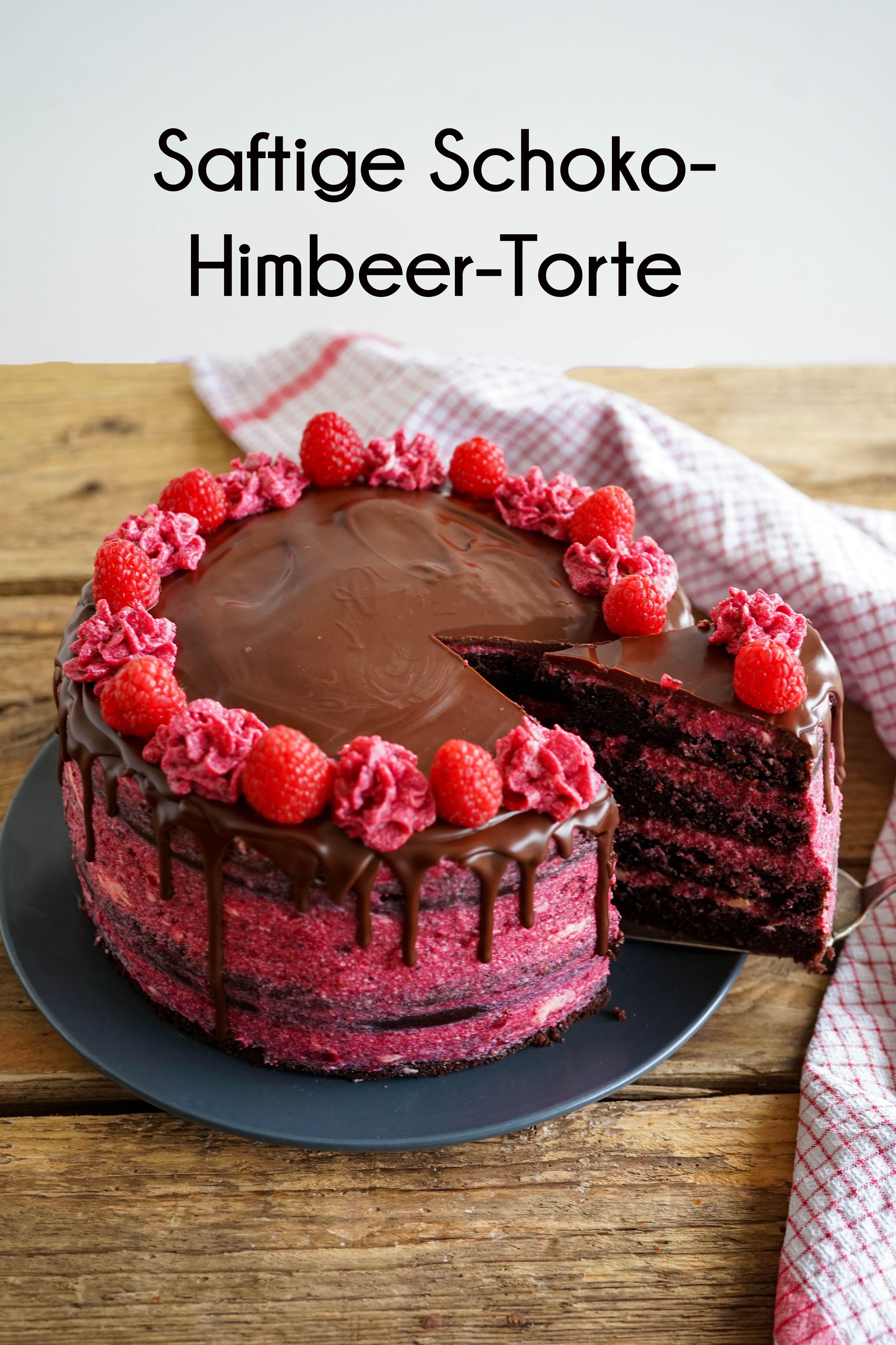 Saftige Himbeer-Schoko-Torte