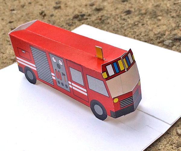 diy pop up fire truck you have to buy template but it is not