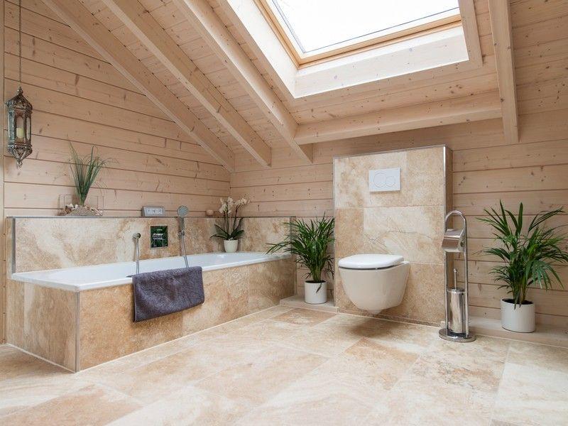 Salle de bain travertin u2013 le chic noble de la pierre naturelle !