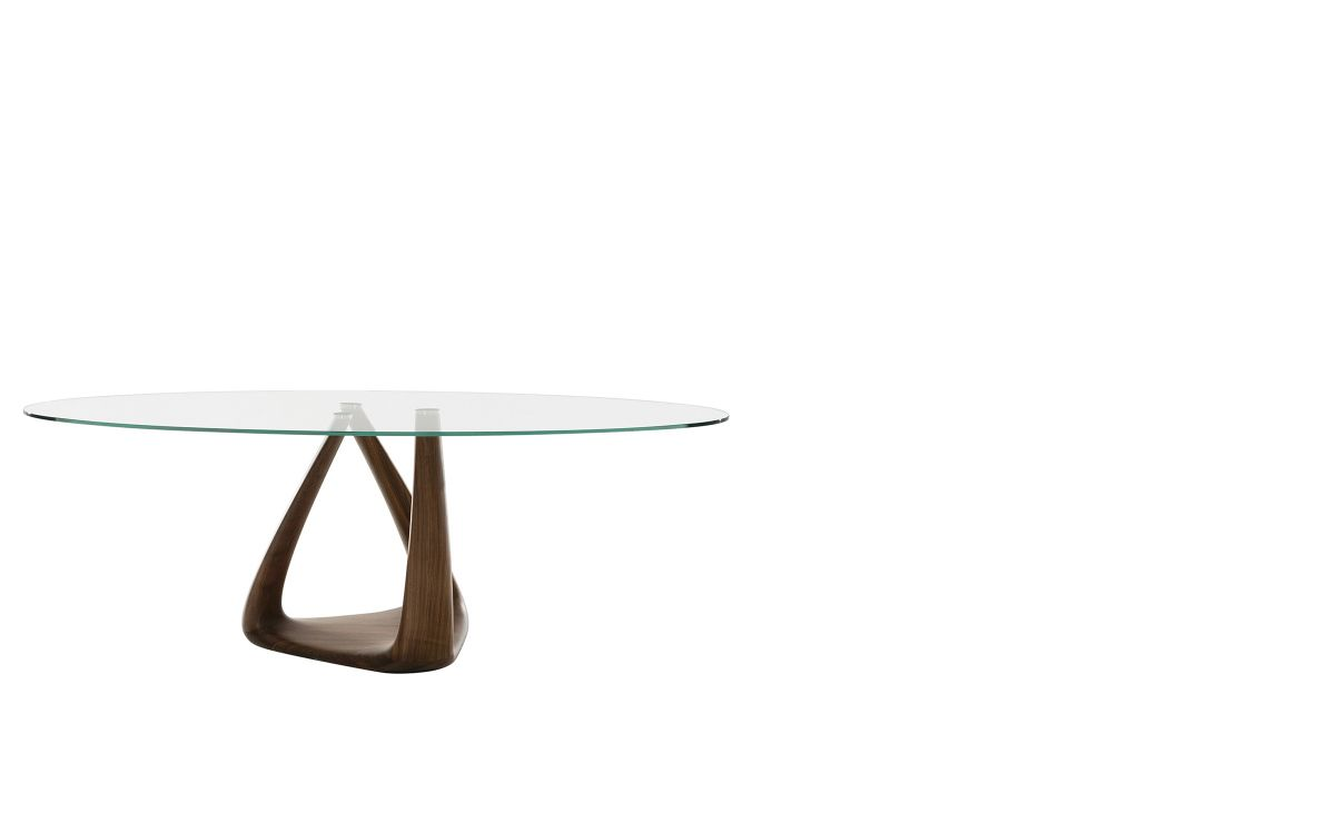 Tonin Casa Rizoma Oval And Round Dining Table Don T Want Clear Glass Top Glass Dining Table Dining Table Table [ 740 x 1200 Pixel ]