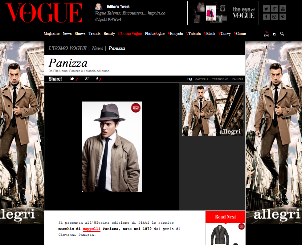 Vogue.it - Gennaio 2014