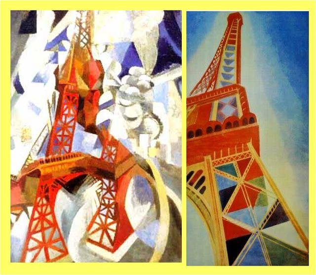 ROBERT DELAUNAY. Torre Eiffel   Siglo XX. 2. El cuadro y la ...