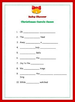 Christmas Baby Shower Games Baby Showers In 2018 Pinterest