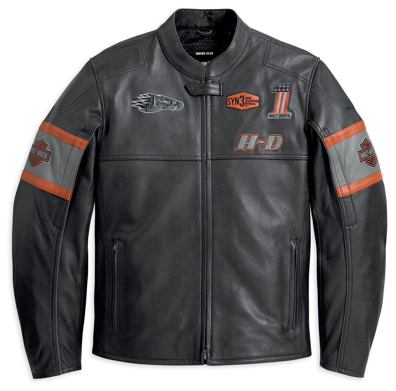Harley Davidson Men Incinerator Black Leather Jacket Screaming Eagle