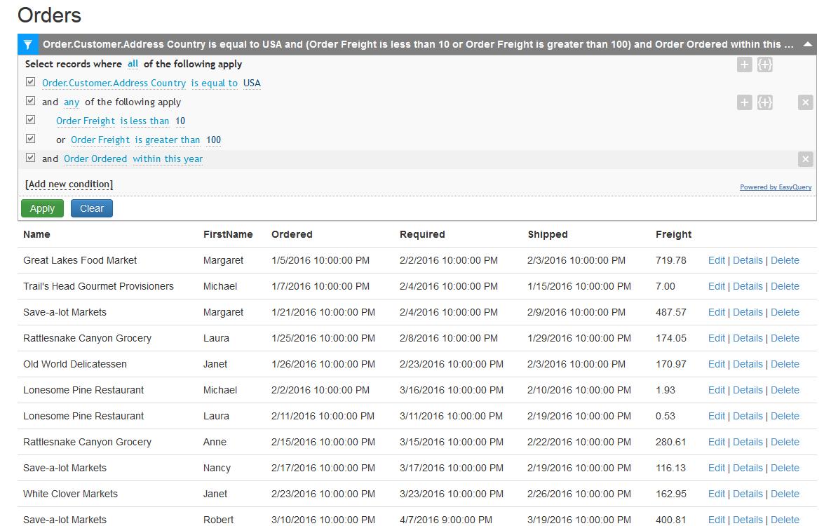 Https Developer Team Dotnet 25388 Easyquery For Net Core V442 Html How To Apply Data Entity Framework