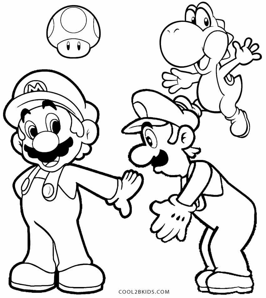 video game character coloring pages - printable luigi coloring pages for kids cool2bkids