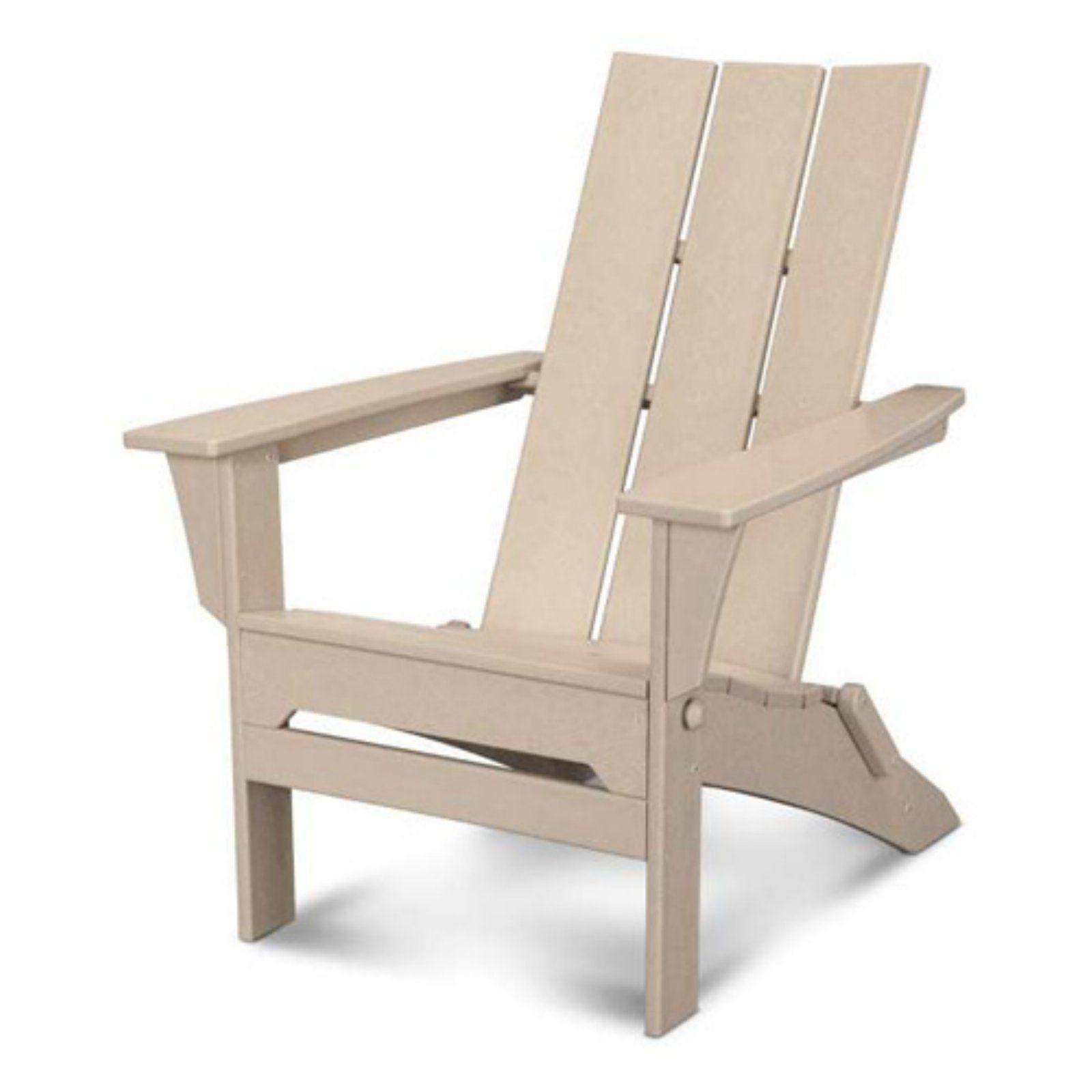 Polywood Modern Folding Adirondack Chair Folding Adirondack