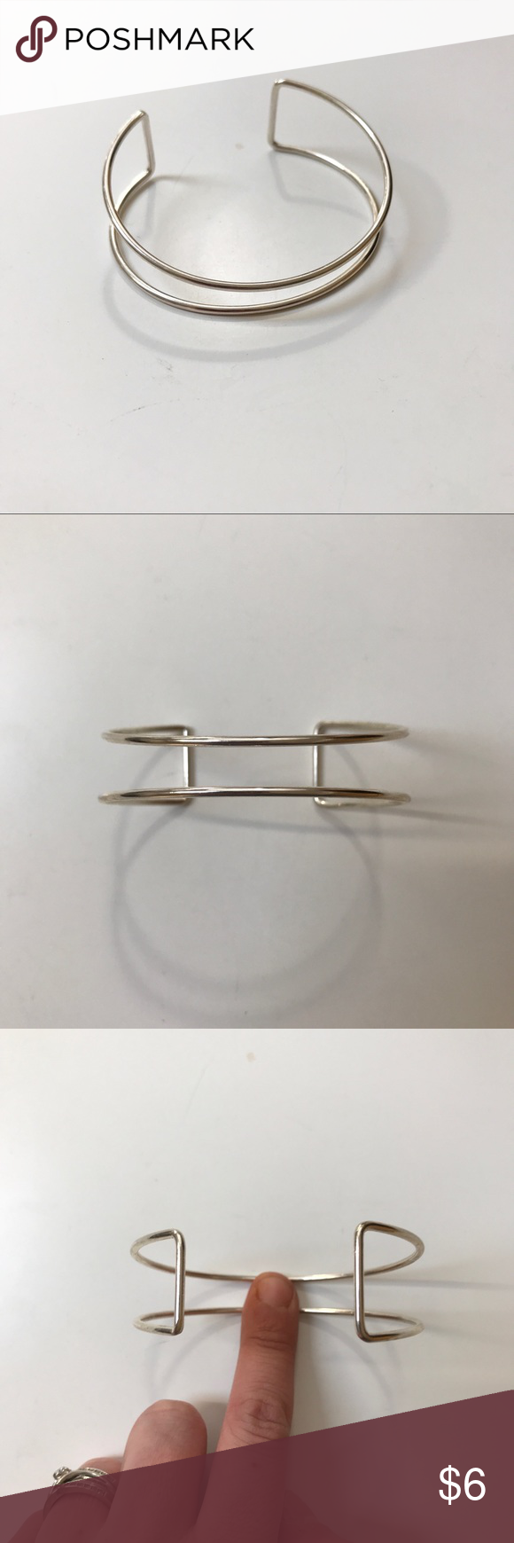Silver Wire Cuff Bracelet Super cute and super simple but so perfect for everyday wear ❤️  Can be loosened or tightened though :) handmade Jewelry Bracelets