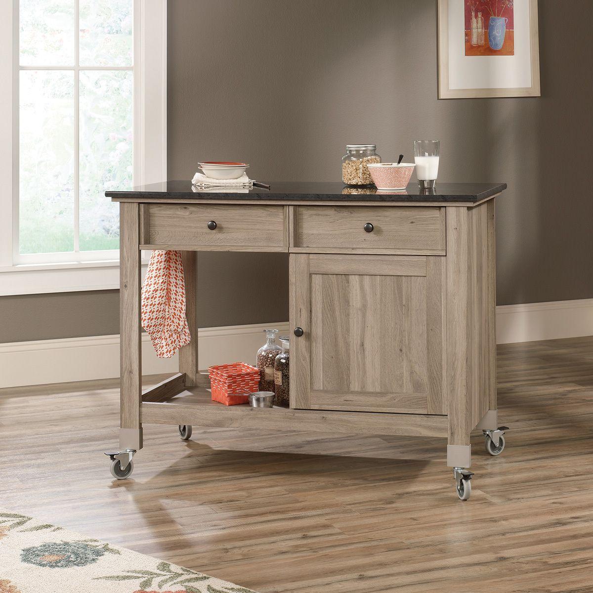 J.Conrad Furniture - Sauder Mobile Kitchen Island (417089), $369.99 (http://www.jconradfurniture.com/Sauder-Mobile-Kitchen-Island-417089/)