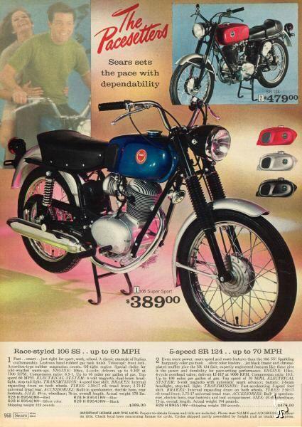 Sears 106 Ad Vintage Motorcycle Posters Motorcycle Posters Vintage Motorcycles