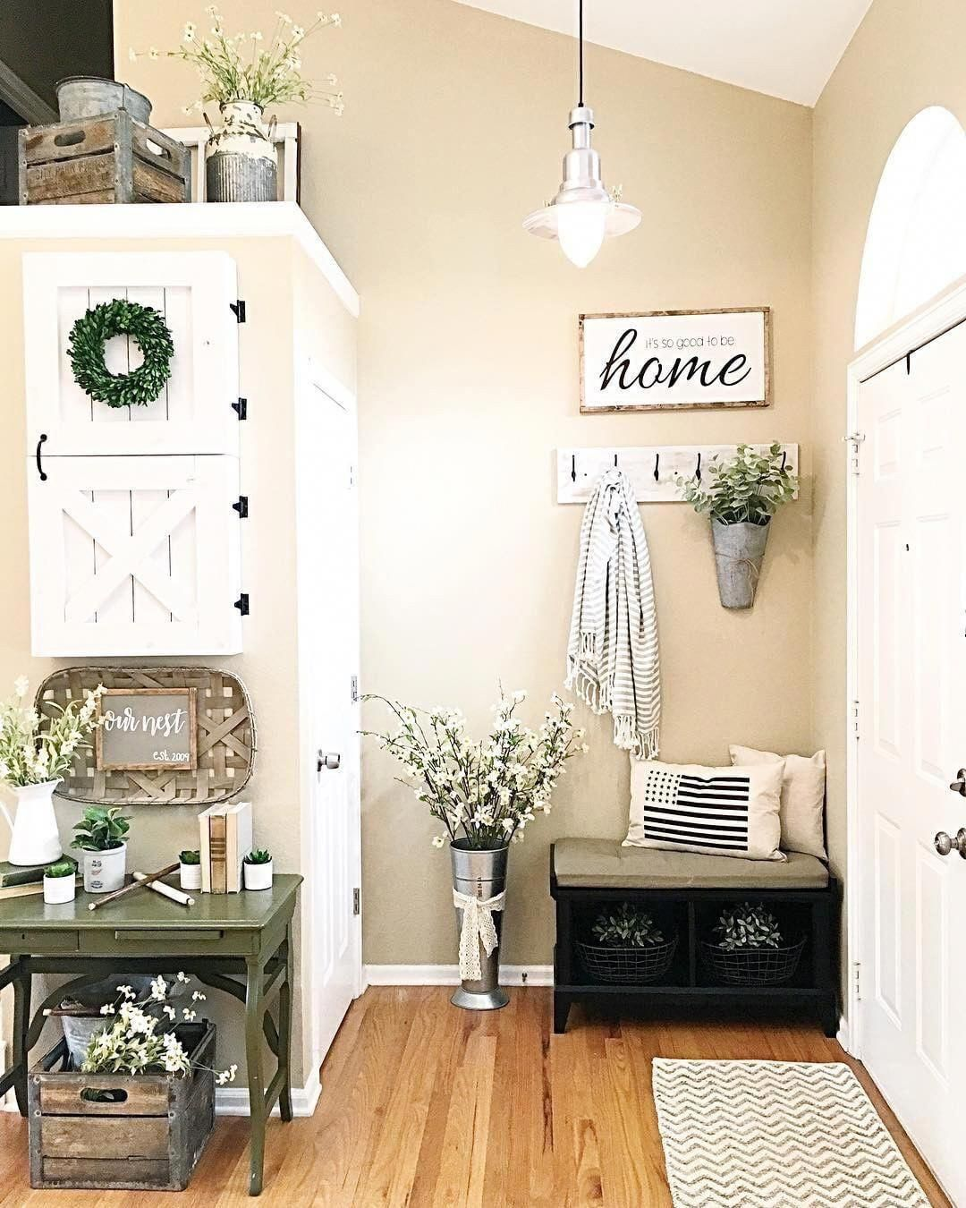 Entrance Area Country Style Living Room By Zero9 Country: Sign And Hanger Area. Perfect Set Up For Living Room Behind Front Door #Foyerdecoratin