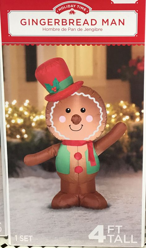 Airblown Inflatable Gingerbread Man 4ft Tall By Gemmy Holiday T Inflatable Christmas Decorations Christmas Inflatables Inflatable Christmas Decorations Outdoor