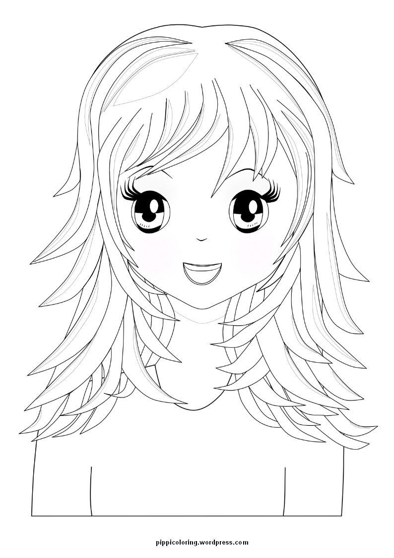Coloring pages girl - Coloring Pages For Girls Hair