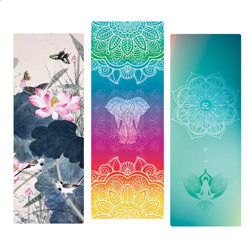 e36b351ba Tapete de yoga de Borracha Natural 183   68 cm   1.5mm Anti Slip Dobrável  Fino Exercício Mat Para Fitness Pilates Ginástica Dança Viagem Yoga Pad