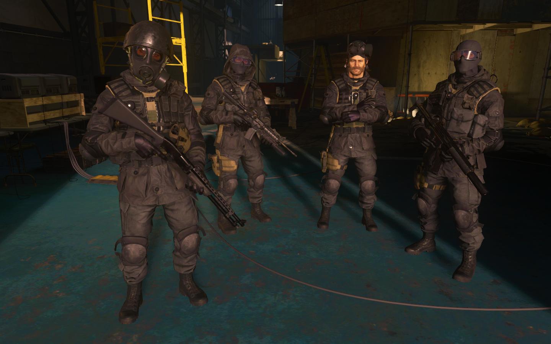 Call Of Duty Modern Warfare Remastered Sgt Wallcroft Pvt Griffen Captain Price Pvt Lishman Sas