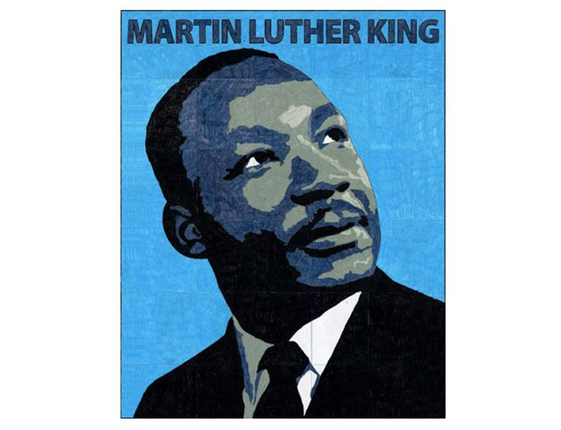Make Your Own Martin Luther King Mural Each Student Colors One Page When Assembled