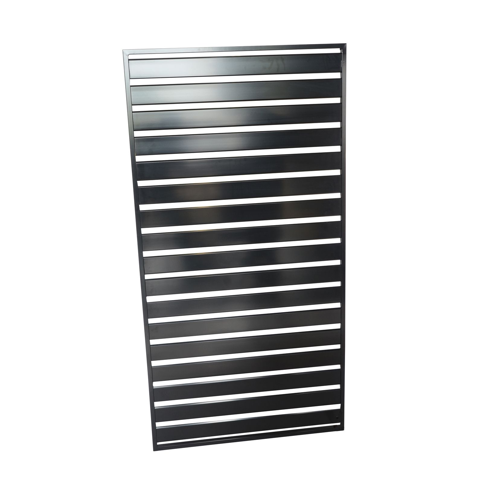 Protector Aluminium 900 X 1750mm Easy Screen Welded Slat Panel Black Bunnings 131 Weld Slats Diy Installation