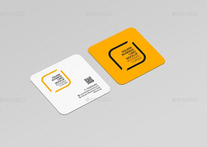 Round corner square business card mockup mockup pinterest round corner square business card mockup reheart Images