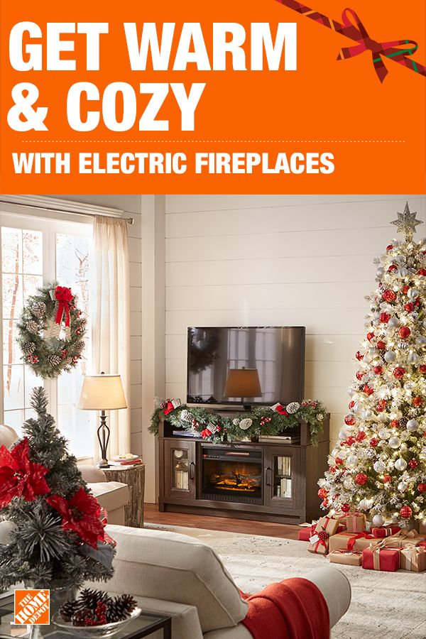 Get warm and cozy in front of an electric fireplace this