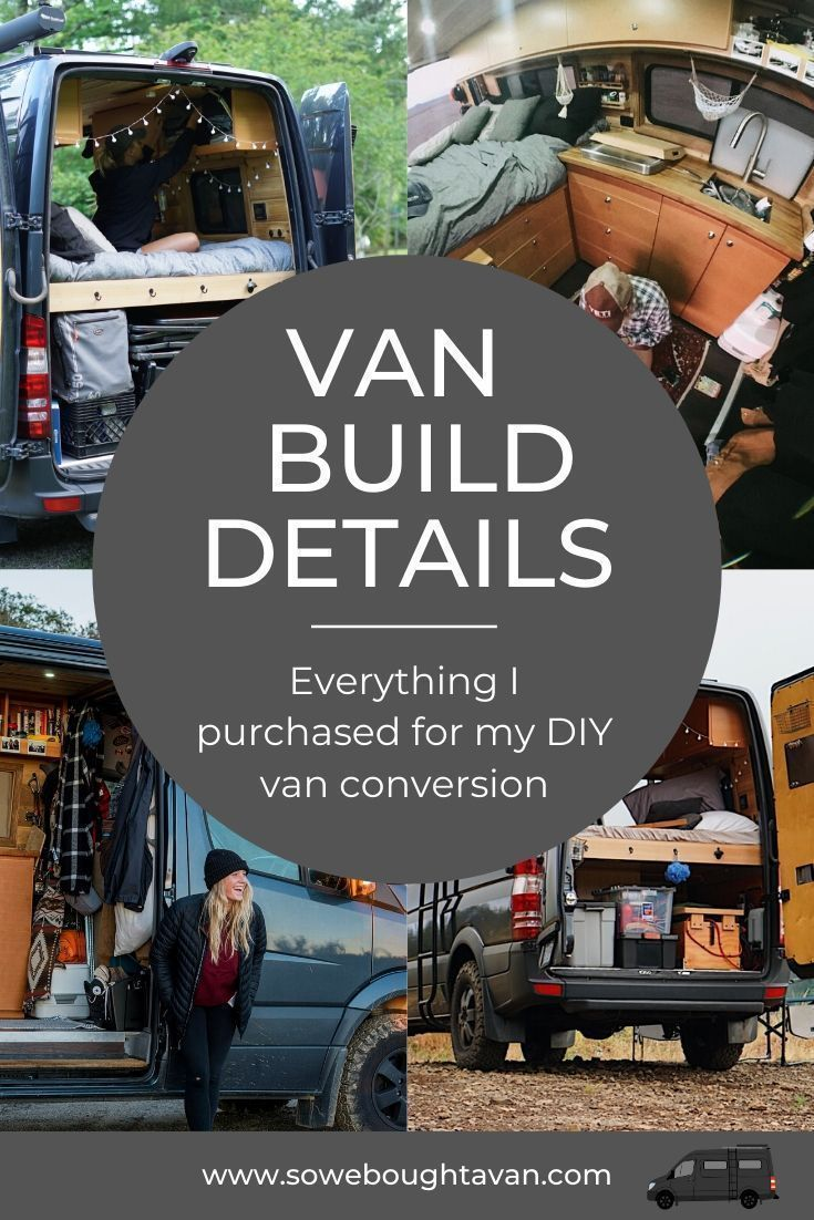 Photo of A detailed list of everything I bought for my DIY van conversion. #To build #Det…