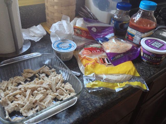 The Food Hussy!: Pinterest Recipe: Sour Cream Chicken Enchiladas