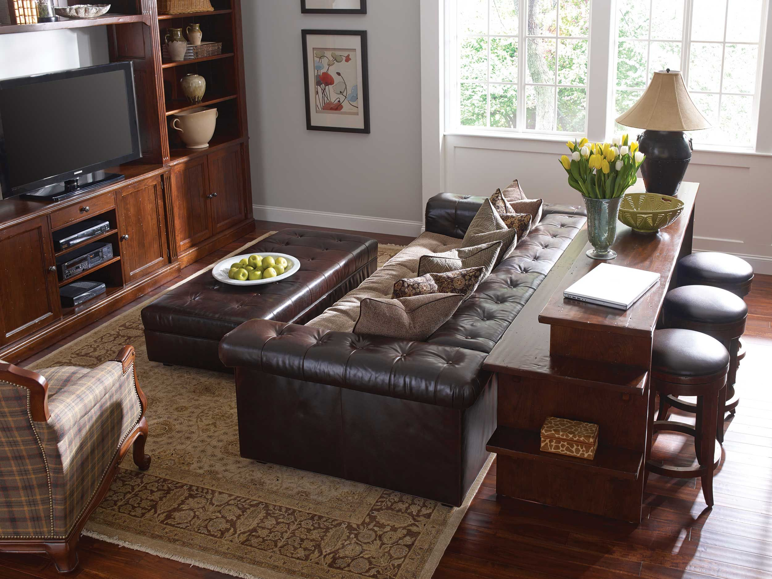 *New* Stickley Gathering Island In Family Room (Sofa Top View)