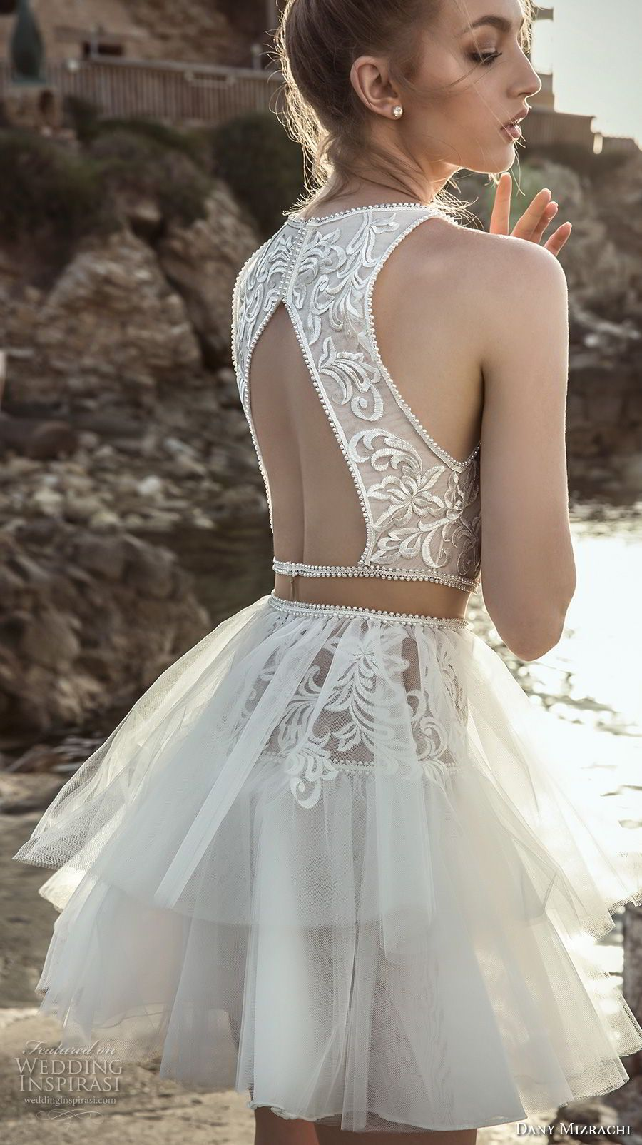 Dany mizrachi wedding dresses short wedding dresses tulle
