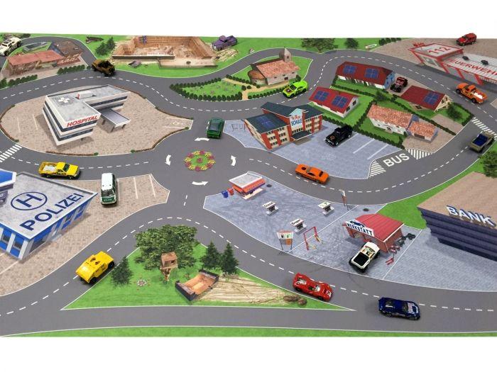 Spielmatte Spielteppich Ideal Für Hotwheels Matchbox Siku Lego