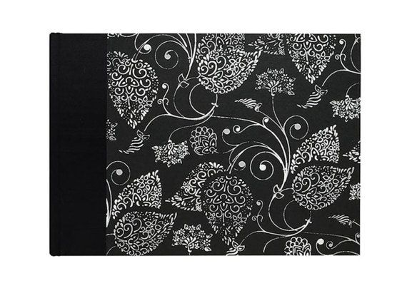 """#composer/musician new Music Staff Paper Book """"Silver Arabesque"""" by WolfiesBindery $25"""