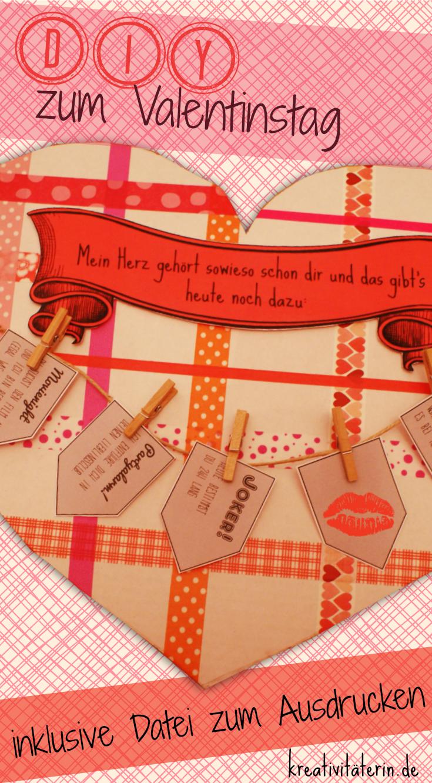 Schön DIY Zum Valentinstag: Liebesgrüße á La Karte