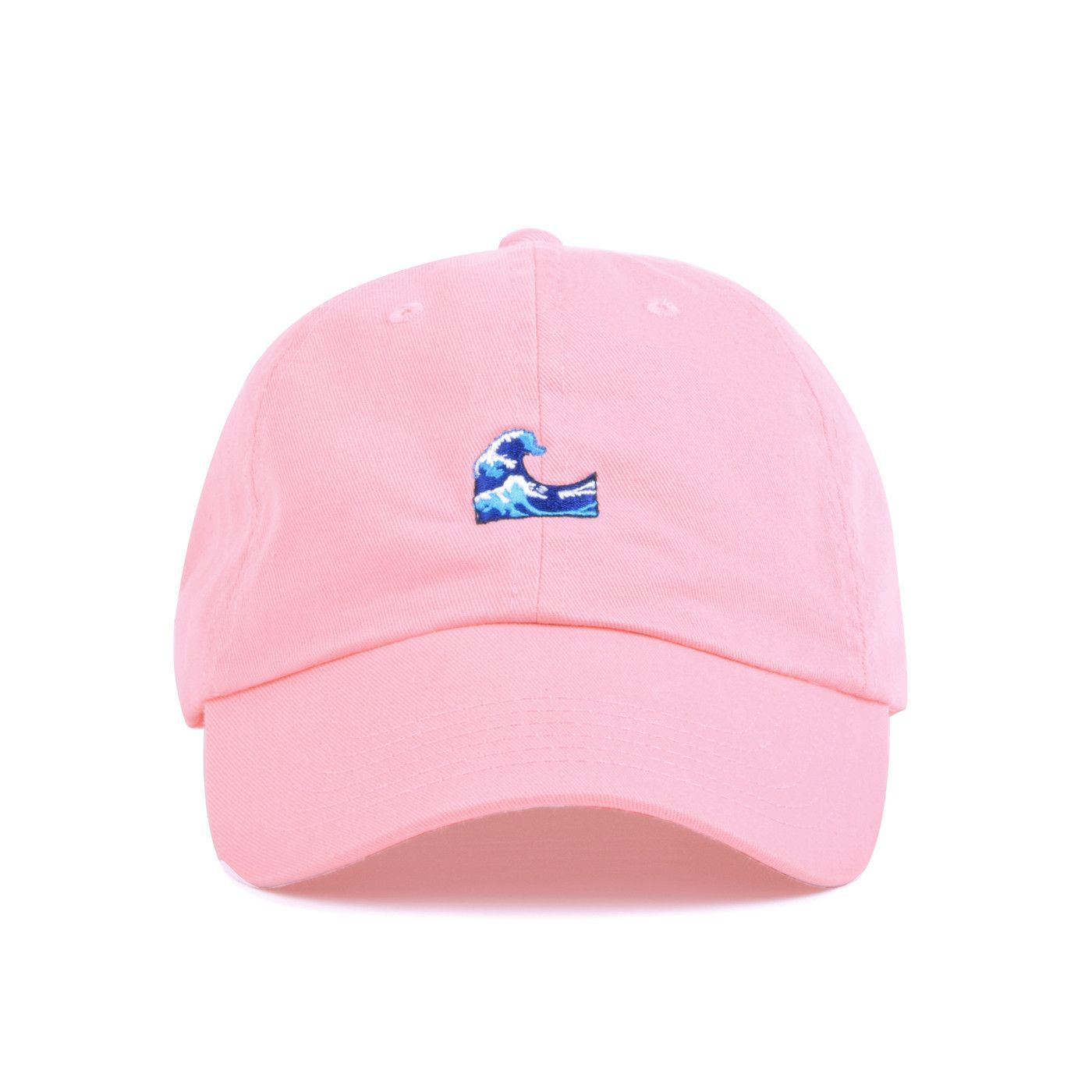 A 100 Soft Cotton Strapback Hat With Low Profile Build And Metal Buckle Featuring The Wave Emoji Embroidery Offered In Li Cute Hats Dad Hats Strapback Hats