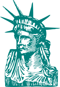 Statue of Liberty detail by @johnny_automatic, a section of the Statue of Liberty from a U.S. patent drawing