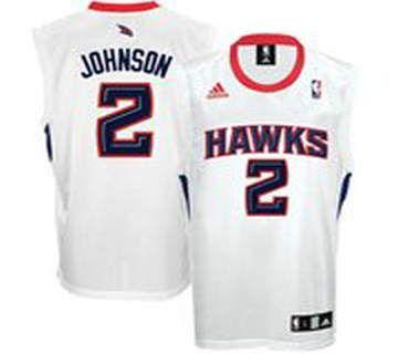 adidas atlanta hawks 2 joe johnson white basketball jersey