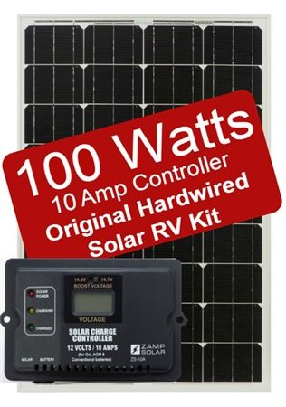 Zamp Solar Zs 100 10a 100 Watt 10 Amp Original Hardwired Solar Rv Kit Solar Kit Best Solar Panels Solar Heating