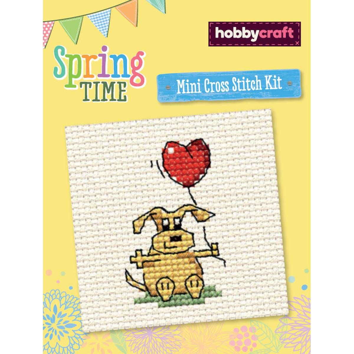 Valentine Doggy Mini Cross Stitch Kit | Hobbycraft