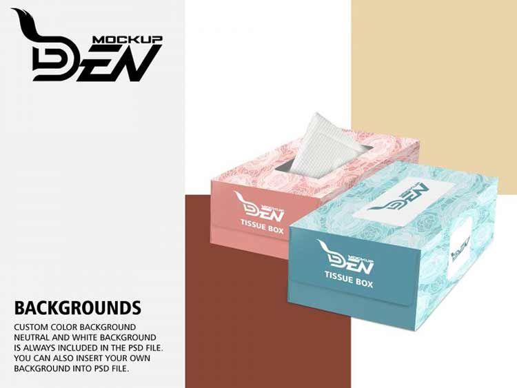 تحميل موك اب علبة مناديل Psd مجانا Box Mockup Psd Templates Tissue Boxes