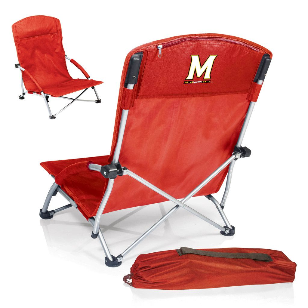 The Maryland Terrapins Tranquility Chair is great for the beach as well as tailgating.