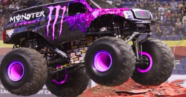 Purple Monster Energy Monster Jam Pinterest Monster Energy Pink And Purple Monster Trucks Big Monster Trucks Monster Energy