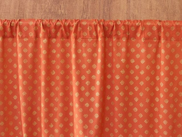 Orange Curtain, Burnt Orange Sheer Curtain, Rust Curtains, Spice Colored  Curtains, Indian