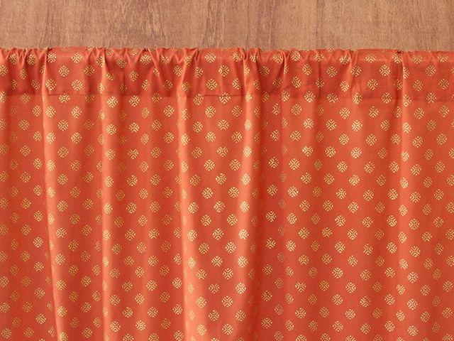 Orange Curtain, Burnt Orange Sheer Curtain, Rust Curtains, Spice Colored  Curtains, Indian